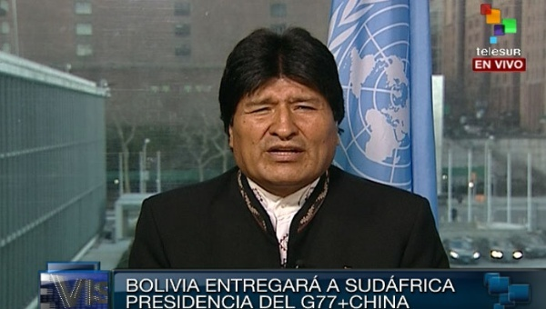 Bolivian President Calls for a World Without War