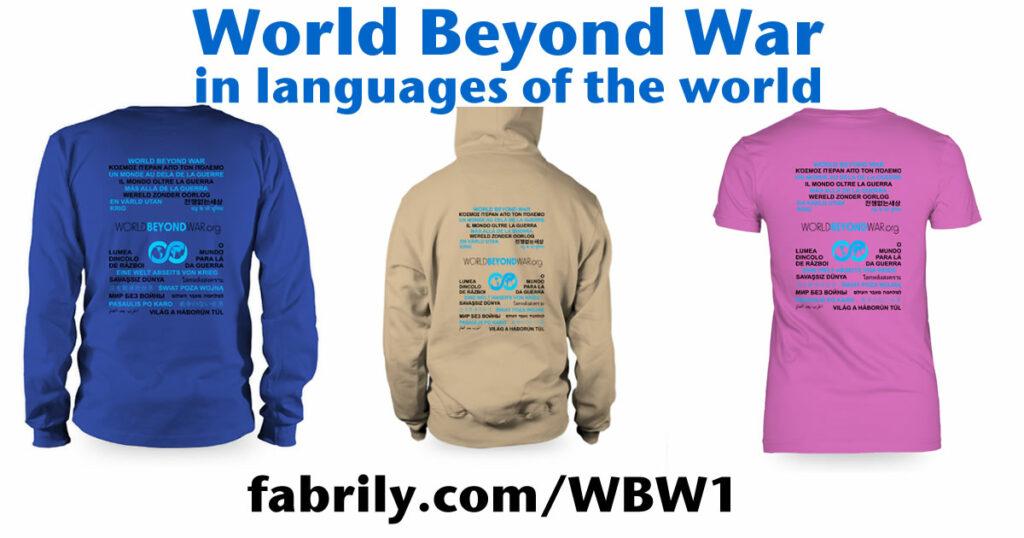 """Wear """"World Beyond War"""" in Languages of World"""