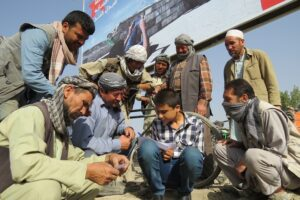 Habib makes a lunch invitation list for labourers