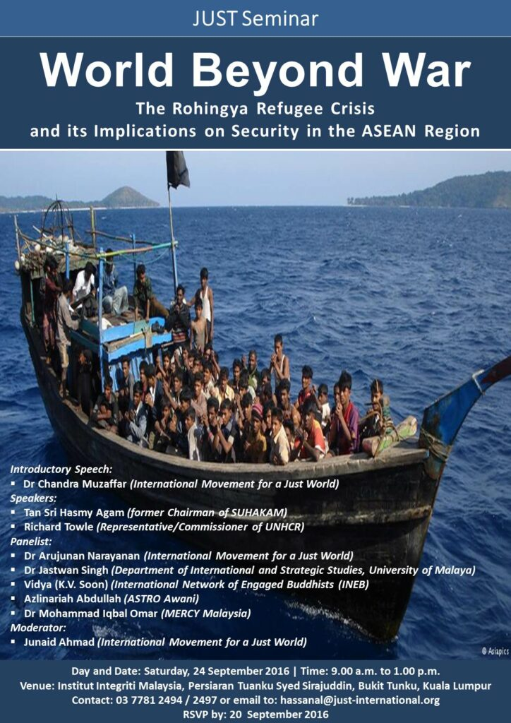 World Beyond War: The Rohingya Refugee Crisis and its Implications on Security in South East Asia