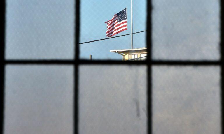 A window at Guantanamo Bay prison.