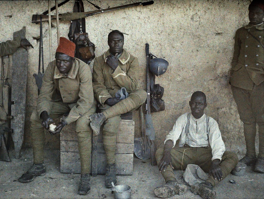 Senegalese soldiers serving in the French army on the western front in June 1917. Photograph: Galerie Bilderwelt/Getty Images