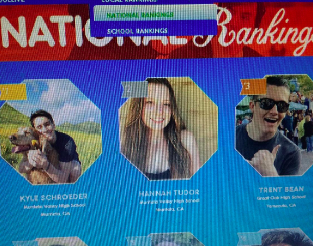 Pictures of students from across the country show up on SkoolLive screens.