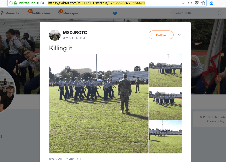 "ROTC on social media - ""Killing it"""