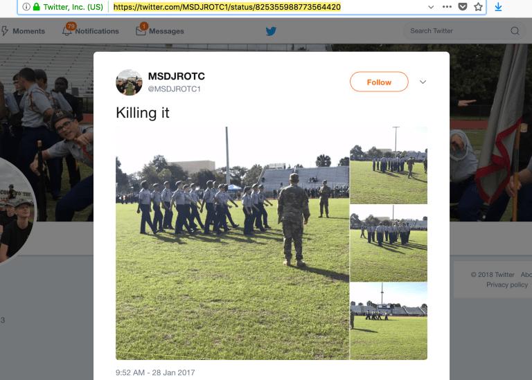 "ROTC on social media - ""Killing it"""