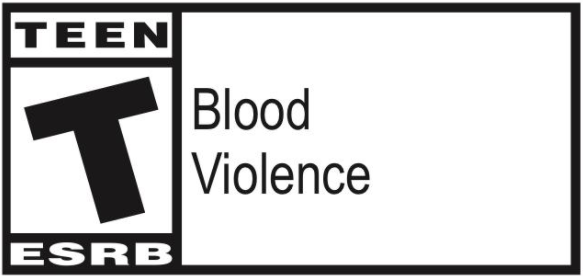 America's Army game rating: Blood and Violence. For Teens.