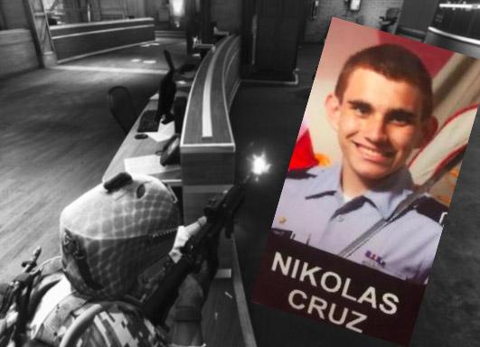 Nic Cruz and an America's Army video game screenshot