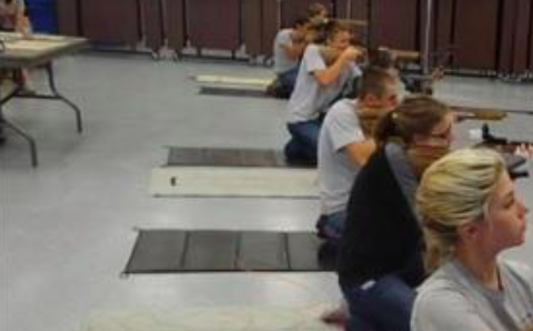 JROTC shooting practice at Marjory Stoneman Douglas high school