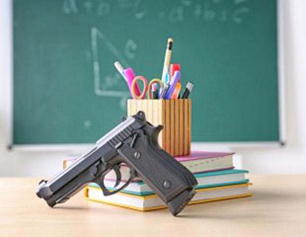 a gun in a classroom