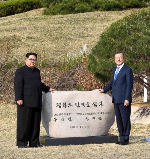 Historic day in Korea