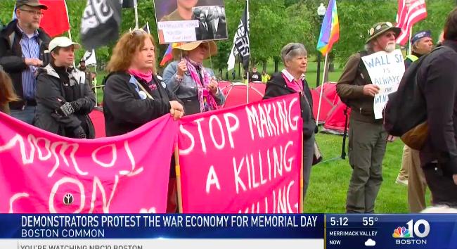 Memorial Day antiwar protest in Boston