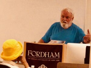 """Peter Phillips, author of """"Giants: The Global Power Elite"""", at Fordham University"""
