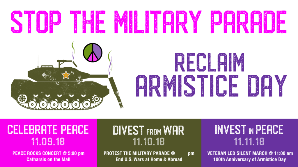 Reclaim Armistice Day: Resist the Military Parade