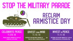 Reclaim Armistice Day: Resist the Military Parade