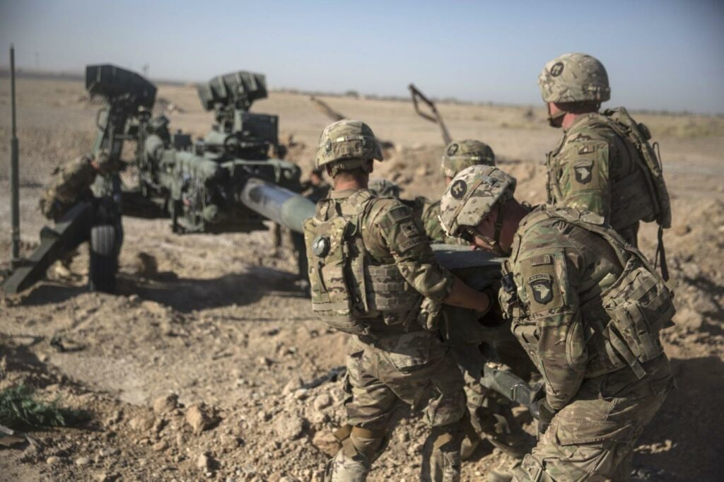 Afghanistan - troops with howitzer