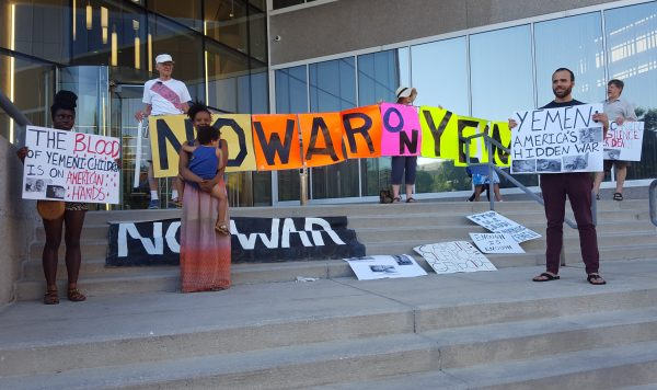 """No War on Yemen"" - protest - by Margaret Flowers"