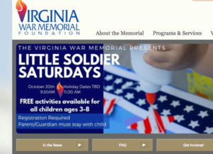 Virginia War Memorial: LIttle Soldier Saturdays