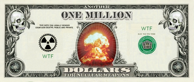 Count the Nuclear Weapons Money artist designed banknote