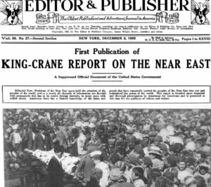 King-Crane Report on the Near East