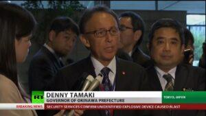 Der Gouverneur von Okinana, Denny Takami, spricht über Militärstützpunkte