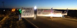 Oktobar 30 2018 prosvjedovao je protiv ratnih sukoba u Beale Air Force Base