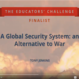 World BEYOND War is a finalist for the Educators' Challenge Competition