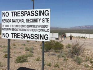Kein Missbrauch an der National Security Site in Nevada