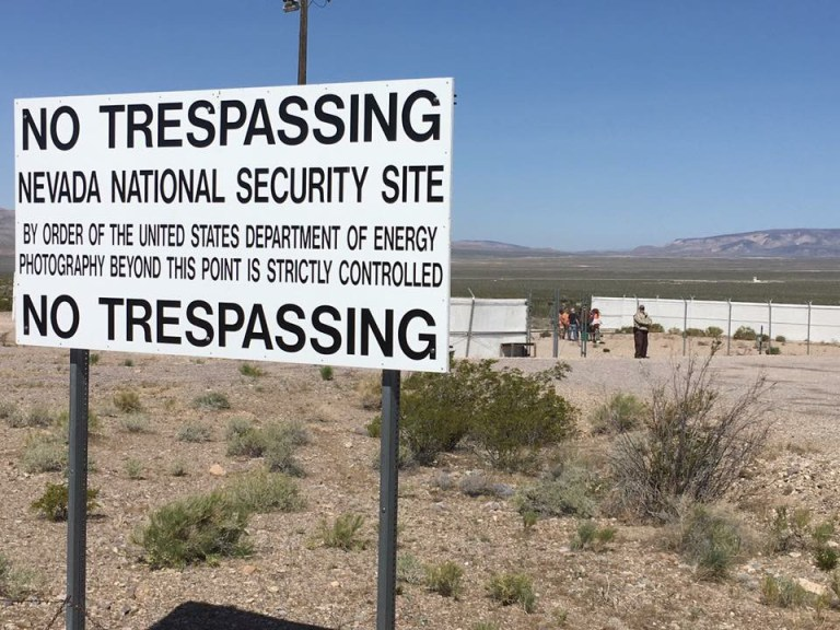 No Trespassing at the Nevada National Security Site