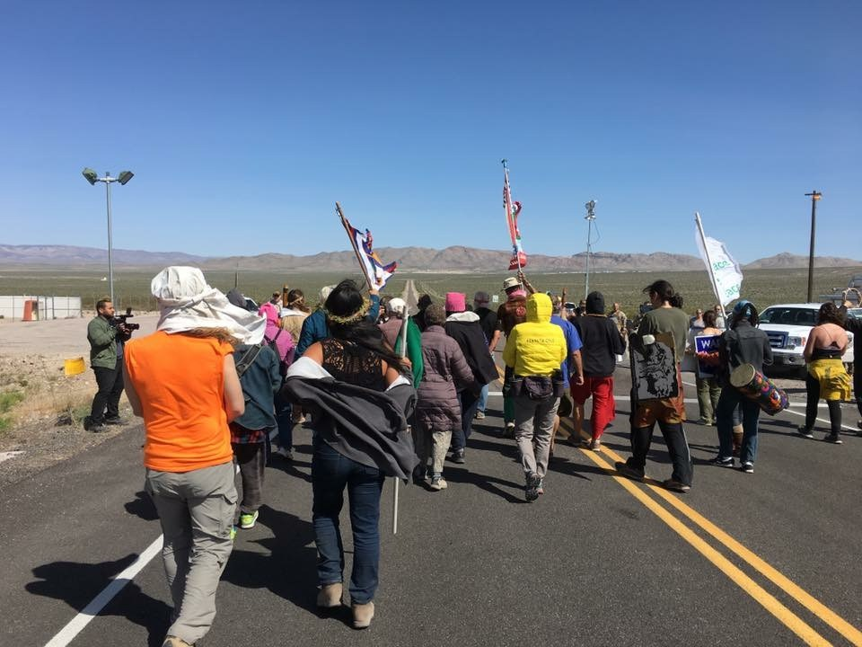 Walk For Peace in April 2019 at the old Nevada Nuclear Test Site