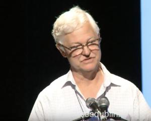 Pat Elder bei #No2NATODublin in 2018