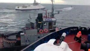 Gunboats in Sea of Azov