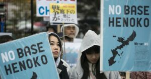 Die Verwüstung von Henoko ist Teil eines größeren, weltweiten imperialistischen Fußabdrucks der USA. Was in Okinawa passiert, ist für indigene Völker überall von Bedeutung. (Foto: AFP)
