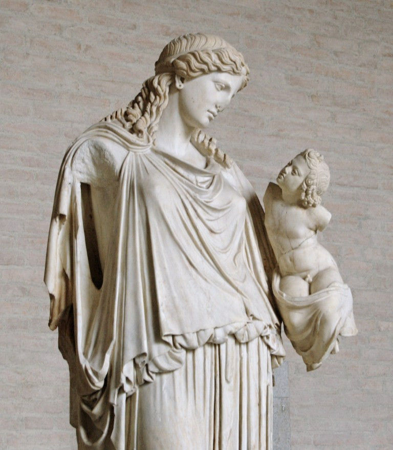 Statue of Eirene, the Goddess of Peace, bearing wealth