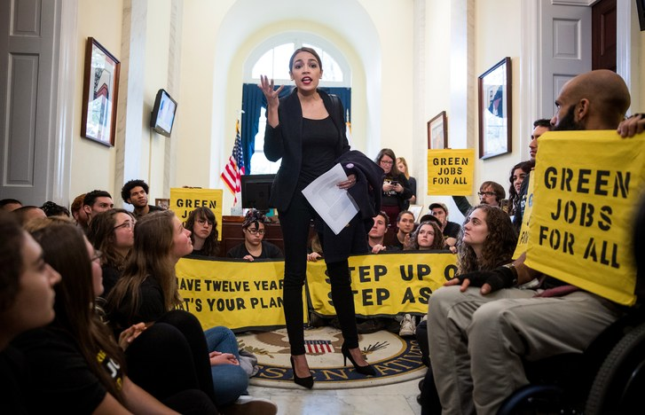 Alexandria Ocasio-Cortez stands for Green New Deal