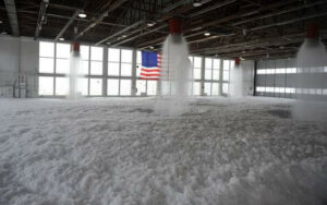 A routine foam test at Mountain Home AFB. Mountain Home Air Force Base