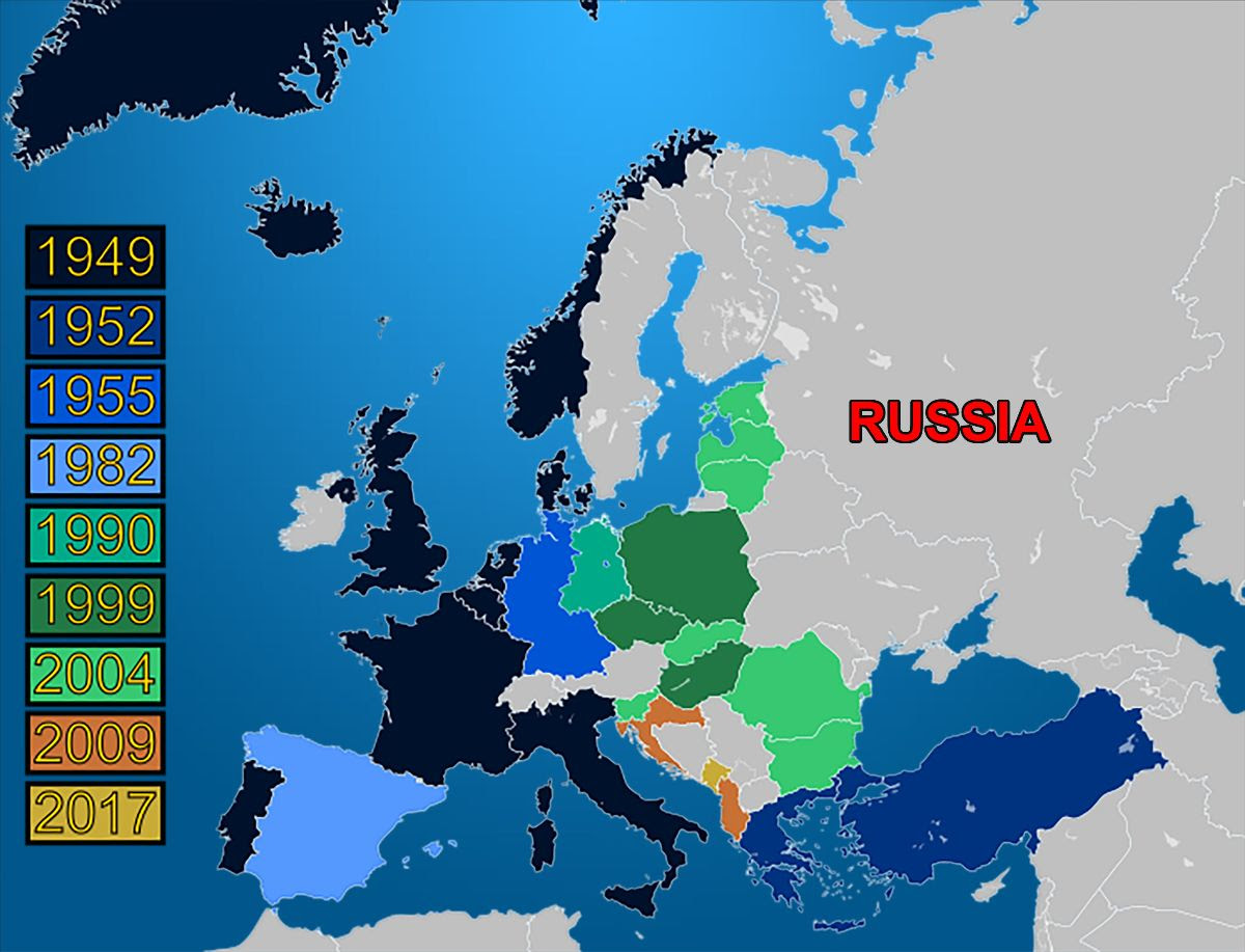 How much countries in Europe pay for NATO