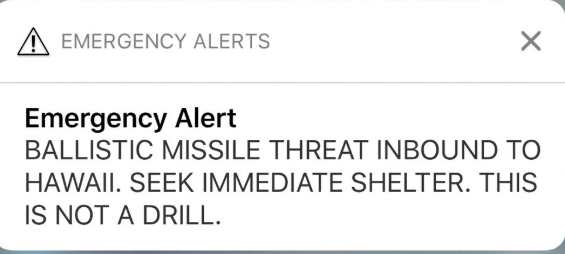 Ballistic Missile Threat Alert-This is Not A Drill
