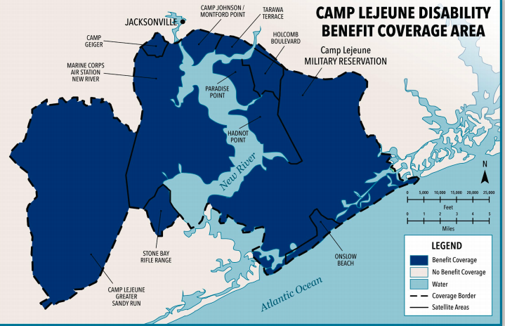Camp Lejuene Disability Area