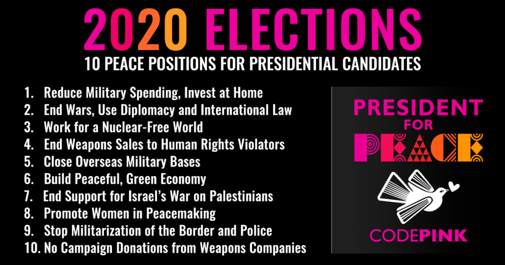 Ten peace positions for US presidential candidates
