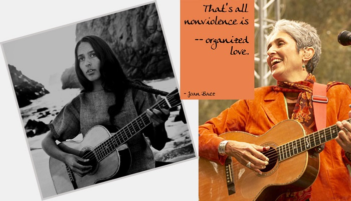 Joan Baez: nonviolence is organized love