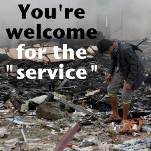"""You're welcome for the """"service"""""""
