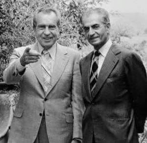Richard Nixon with the Shah of Iran