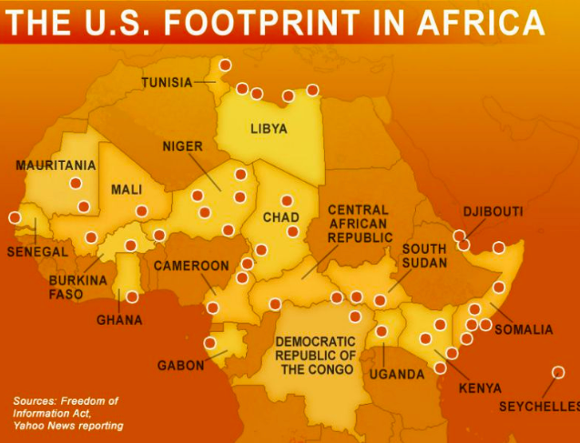 US military footprint in Africa