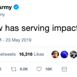 US Army tweet that got unexpected responses