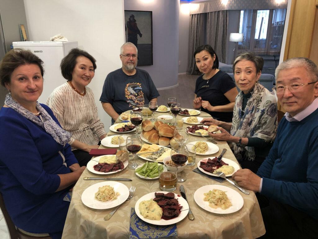 Rotarian hosts in Yakutsk.  Photo by Ann Wright