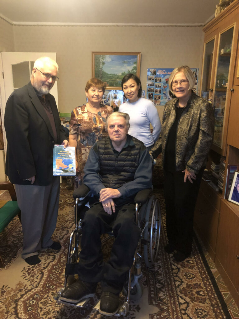 Rotarian and host Pete Clark, researcher and Ivan's wife Galina, host and Rotarian Katya Allekseeva, Ann Wright