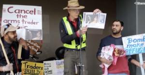 Protestors in New Zealand
