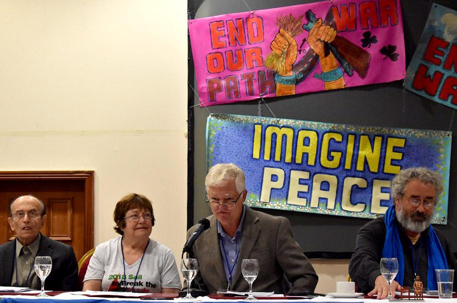 Pat Elder speaking at #NoWar2019 in Limerick, Ireland