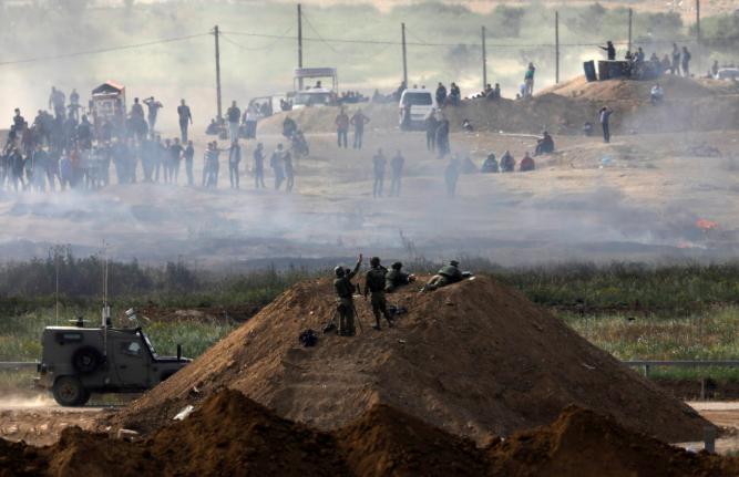 Israeli snipers shooting into Gaza. Intercept.com