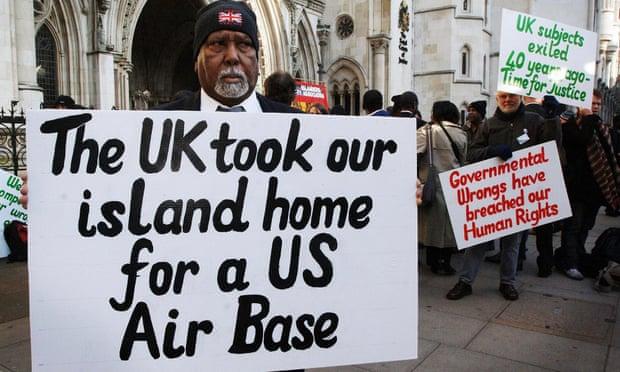 Chagossian military base protestors
